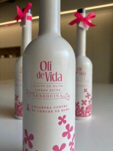 Oil de vida, producto comprado por GRAUGO para colaborar con el proyecto Flor de Vida, para ayudar en la lucha contra el cáncer de mama